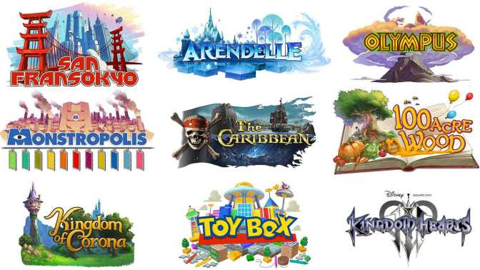 all-worlds-list-disney-pixar-in-kingdom-hearts-3